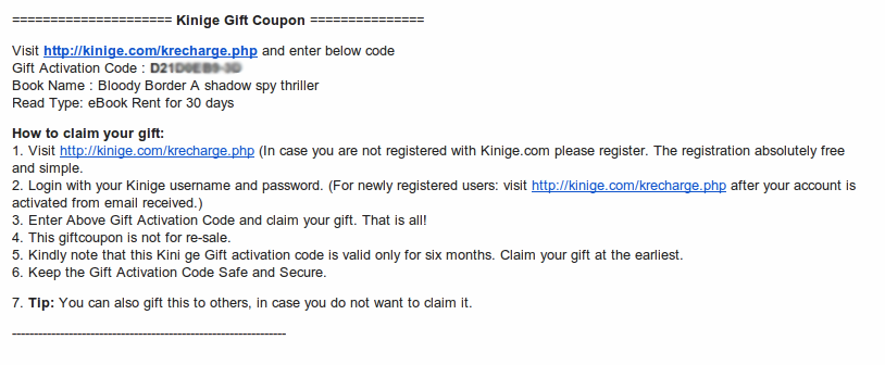 Help kinige blog how to claim a book sent as a gift to you fandeluxe Gallery